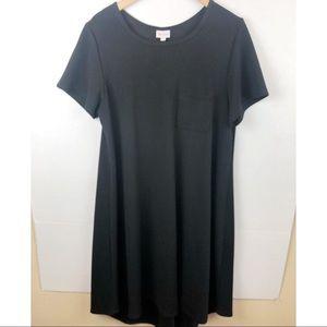 Lularoe L black Carly swing Dress  XL
